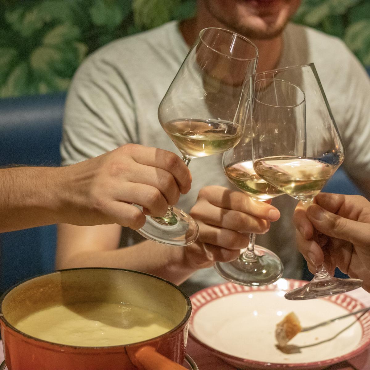 Champagner-Fondue im Klingeli